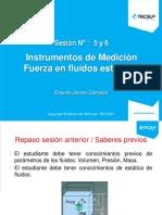 MECANICA DE FLUIDOS - SESION  5 y 6 -MANOMETROS . FLOTACION (2).pptx