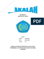 Makalah Reading 1(Recount Text)