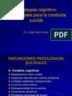 Estrategias cognitivos conductuales para la conducta suicida.ppt