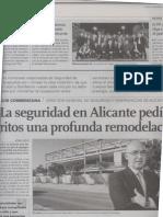 visita de delegación de Aragon a ver las luminarias lidolight instaladas en Alicante