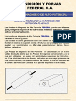 Anodos Magnésio - Proteção Catódica (Espanhol)