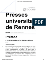 La Folie - Préface - Presses Universitaires de Rennes