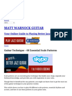 60 Essential Scale Patterns for All Levels MATT WARNOCK GUITAR