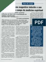 O sonambulismo magnético induzido e sua repercussão no campo da medicina espiritual  _ Vitor Ronaldo Costa