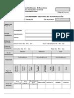 Formulario de Registro de Proyectos