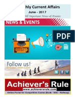 June 2017 - Monthly Current Affairs PDF Download - Www.achieversrule.com