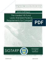 SIGTARP Hardest Hit Funds Competition Interim Audit Report - The Hardest Hit Fund Lacks Standard Federal Requirements for Competition 03-08-2018