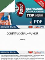 TJSP Vunesp Direito Constitucional