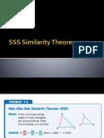 SSS Similarity Theorem (MATH)