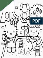 Mewarnai Gambar Hello Kitty 15