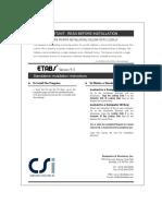 ETABS Install Instructions