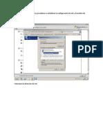 Instalacion de Servicios Active Directory, DNS.