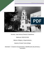 Actividad 1 Creacion de Argumentos e Identificacion de Premisas y Conclusion U2 Jose Palacios