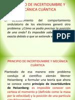 Principio de Incertidumbre y Mecánica Cuántica