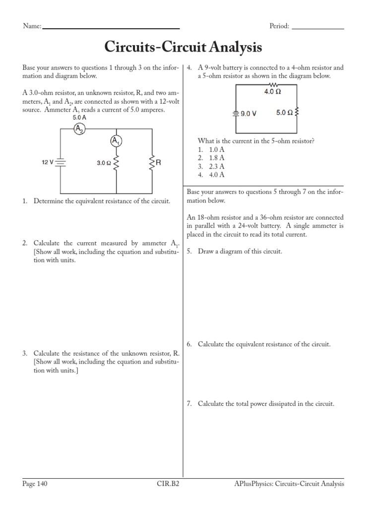 26 Circuits Circuit Analysis Series And Parallel Circuits Resistor [ 1024 x 768 Pixel ]