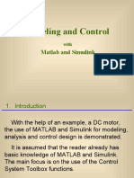 Matlab and Simulink for Modeling and Control
