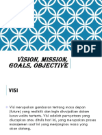 Manajemen Strategis -  Visi Misi