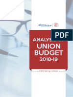 Analysis of Union Budget 2018-19