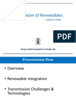 Renewable Integration - POWERGRID