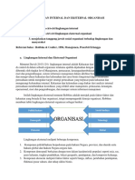 Lingkungan Internal Dan Eksternal Organisasi