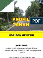 Dasar Ilmu Tanah Profil Tanah