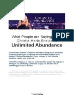 True Tales of Unlimited Abundance