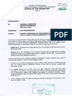 DPWH Interim Guidelines on the Eligibility Processing for All Field Offices Connected to the CWR