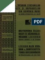 Dicţionarul tuturor staţiunilor căilor ferate şi vapoarelor din România Mare