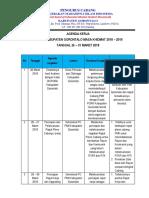 Agenda Pc Pmii Tanggal 25 - 31 Maret 2018