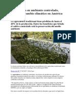 Agricultura en Ambiente Controlado