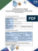 Guía de actividades y rubrica de evaluación - Fase 2 - Redactar un problema de progra.docx
