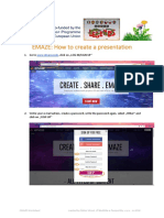 how to create a presentation in emaze