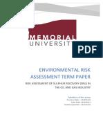 Risk Assessment of Sulphur Recovery (1)