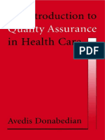 1. an Introduction to Quality Assurance in Health Care - Avedis Donabedian
