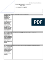 Therapy Blank Critical Appraisal Worksheet