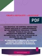 Grafica Desviación vs Rango(S-r)