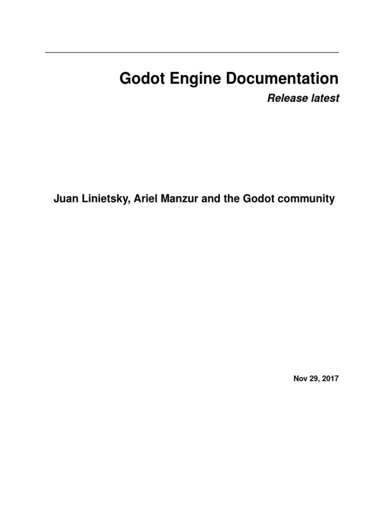 Godot  pdf | Scripting Language | Display Resolution