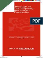 2018 Brent Labour Manifesto