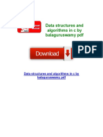 Data Structures and Algorithms in c by Balaguruswamy PDF