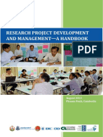 Research Project Development and Management a Handbook