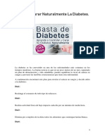 Tips Para Curar Naturalmente La Diabetes