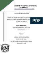 Diseño Planta de Tratamiento Mexico