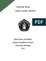 01300 06186 IK Pemakaian Cautery Electric Klinik