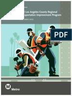 Metro's Regional Transportation Improvement Program submission