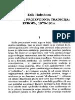 E. Hobsbavm, Masovna Proizvodnja Tradicija