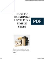 How to Harmonize a Scale in 4 Simple Steps
