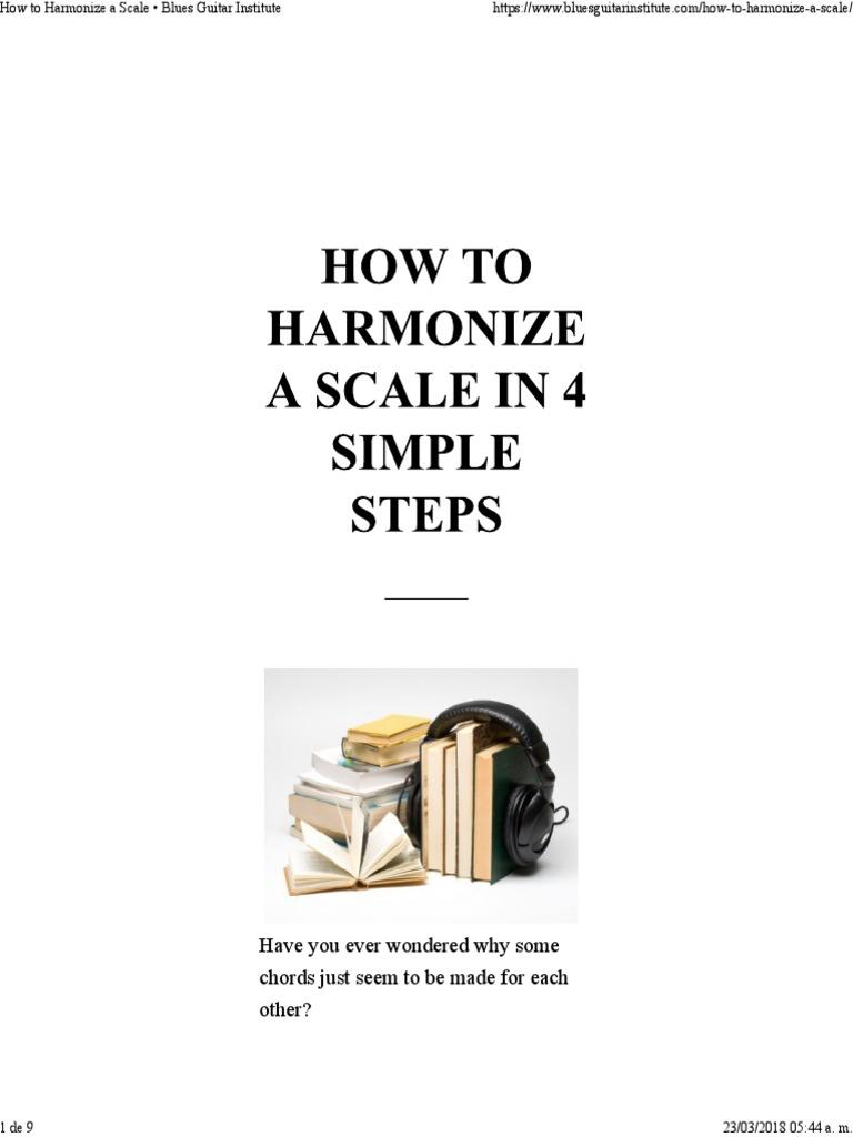 How to harmonize 61