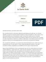 Papa Francesco Angelus 2013-09-01 ES