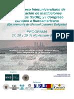 Programa Xiii Cio i e Comunicaciones-poster