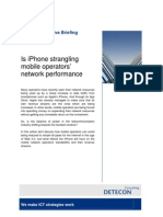 Is the iPhone strangling mobile operators' network performance? (Detecon Executive Briefing)